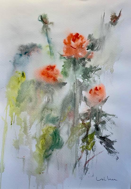 acuarela de flores silvestres 2