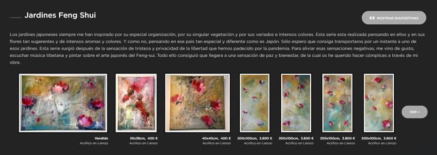 Singulart pinturas serie feng shui Esther Tenedor