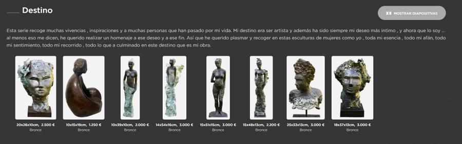 Singulart esculturas serie destino Esther Tenedor