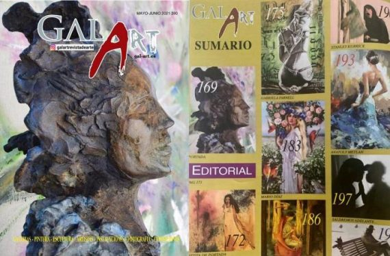 Gal Art revista de arte nº 390 portada escultura de Esther Tenedor