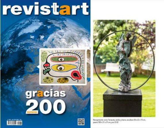 Revistart nº 200 portada y detalle escultura